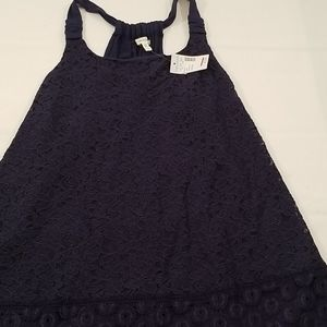 Maurices NWT Lace Tank Top Camisole L Navy Blue